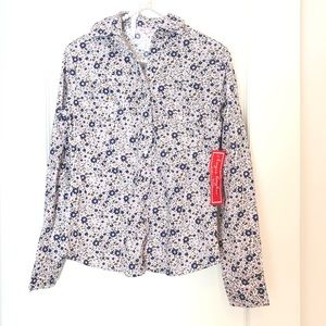 Kayce Hughes Top Pink Floral Button Up Size 2 NWT